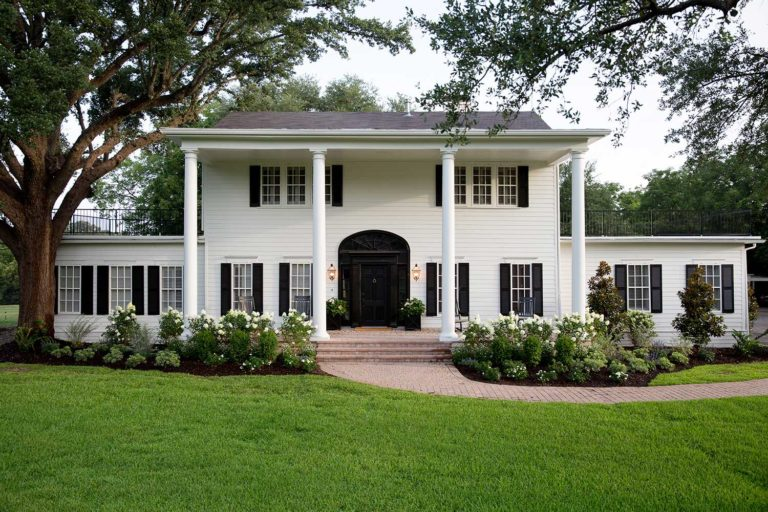 Front of a Large Home