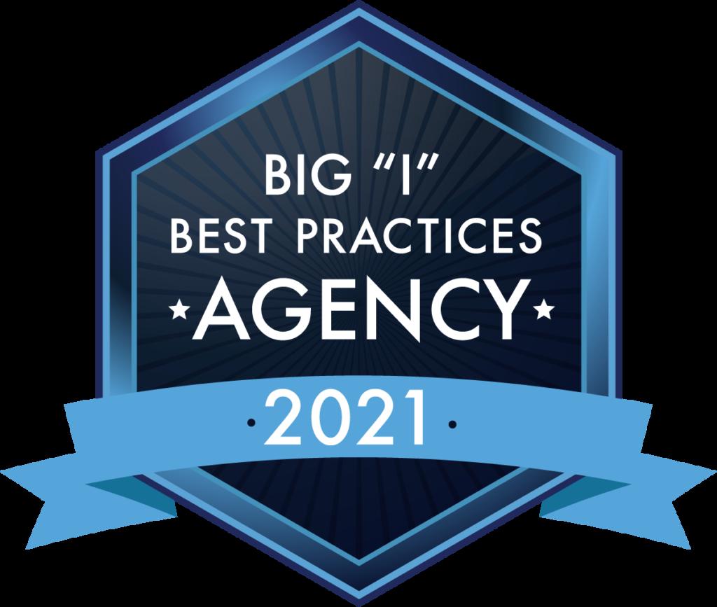 "Big ""I"" Best Practices Agency 2021 Logo"